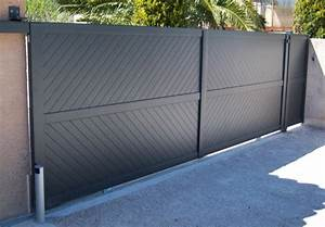 Portail Coulissant Automatique : portail automatique portail alu 4m50 sfrcegetel ~ Premium-room.com Idées de Décoration