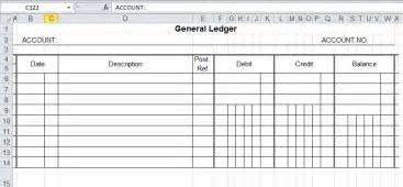 General Ledger Spreadsheet General Ledger Template And Free