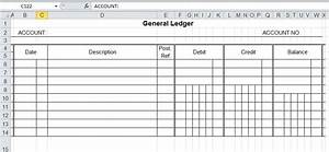 general ledger template and free download With subsidiary ledger template