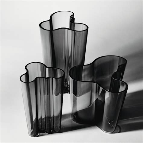 Aalto Vases - iittala launches new grey addition to the alvar aalto