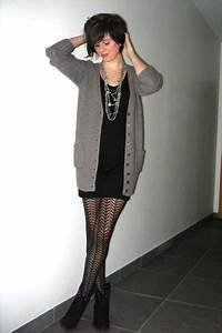 Brown Cardigans Black Dresses Black Boots Silver Necklaces Black Tights | u0026quot;Die Antwoordu0026quot; by ...