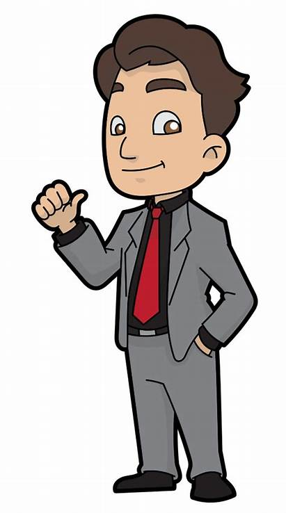 Cartoon Businessman Svg Easygoing Commons Pixels Wikimedia