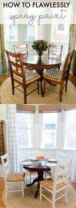 how to flawlessly spray paint furniture