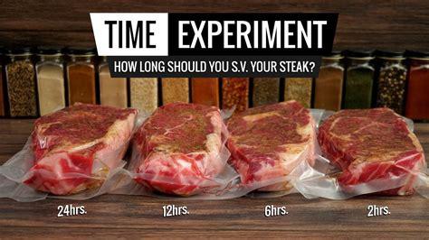 Sous Vide Steak Time Experiment