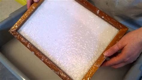 pulp deckle making recycled handmade paper youtube