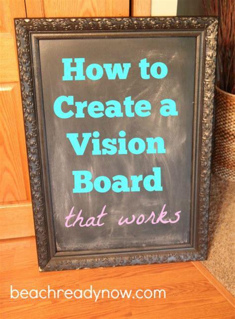 create  vision board   works beach