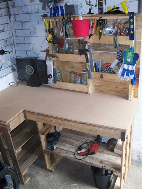 pallet workbench tool rack  pallets