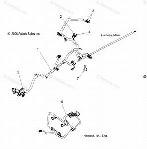Polaris Snowmobile 2007 Oem Parts Diagram For Wire Harness