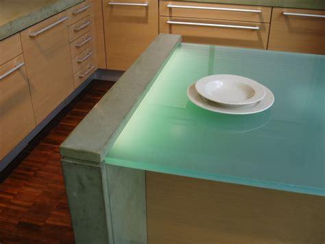 Glowing Glass Countertops   Brooks Custom