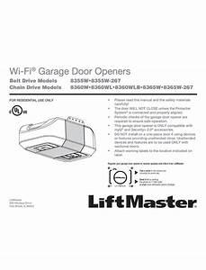 Premium Series U00ae 8355w 1  2 Hp Ac Belt Drive Wifi Garage