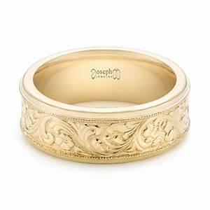 custom hand engraved men39s wedding band 102980 With custom engraved wedding rings