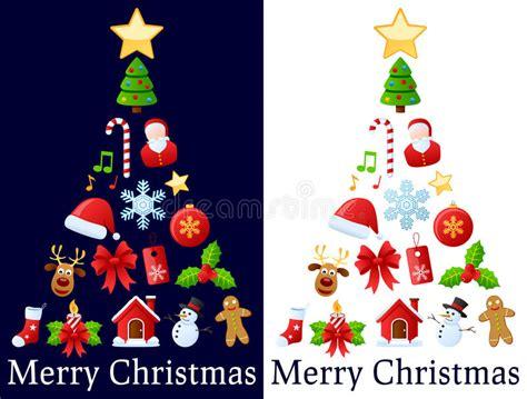 193 rbol de los iconos de la navidad ilustraci 243 n del vector