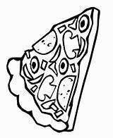 Pizza Coloring Pages Slice Pepperoni Sheets Pusheen Template Clipart Printable Popular Coloringhome Delicious sketch template