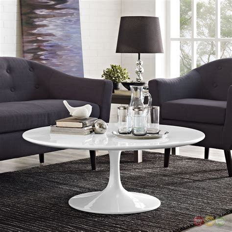 """The dimensions are 40 x 22 x 18 inches. Lippa Modern 40"""" Round Pedestal Coffee Table With ..."""