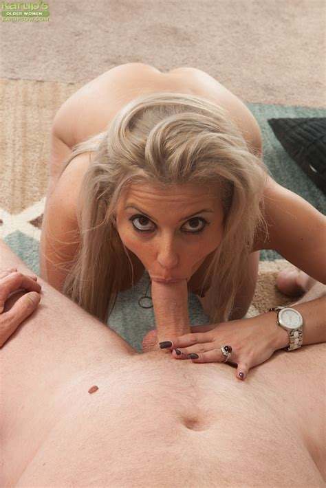 Blonde Mature Woman Alana Luv Gets On Her Knees Naked For Hot Pov Blowjob