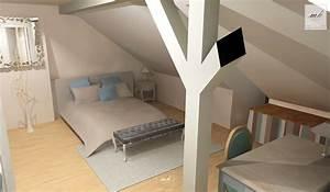 Decoration chambre comble for Deco chambre sous comble