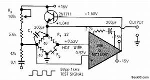 Hot Wire Anemometer Diagram