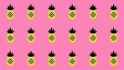Desktop Computer Wallpapers Pineapple Backgrounds Summer Pink