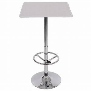 Pied De Table Haute : table haute de bar avec repose pied blanc mange debout ~ Dailycaller-alerts.com Idées de Décoration
