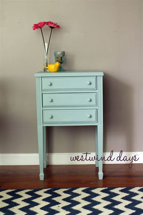 decor chalk paint end table refurbish with americana decor chalky finish