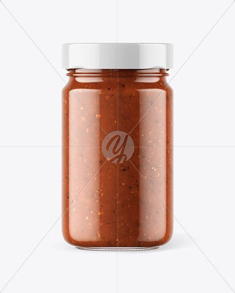 Clear glass cosmetic jar mockup. Download Sweet Chili Sauce Bottle Mockup Yellowimages ...
