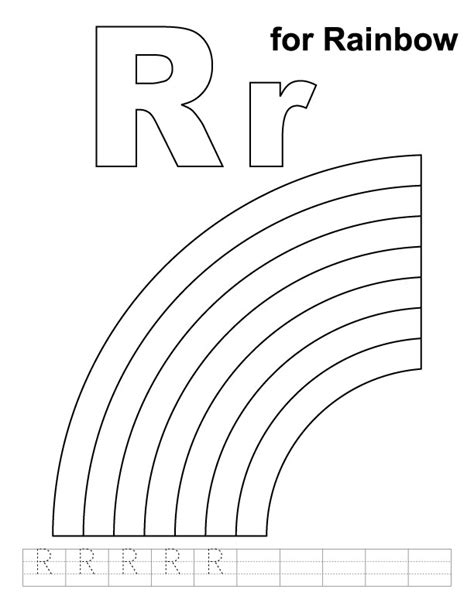 11 Best Images Of R Is For Rainbow Worksheet  R Is For