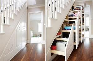 Placard Escalier : de l originalit pour votre placard sous escalier cuboak ~ Carolinahurricanesstore.com Idées de Décoration