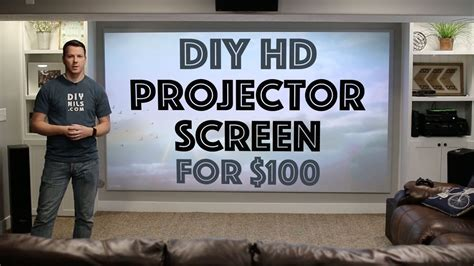 diy hd projector screen   youtube