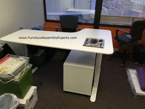 motorized standing desk ikea ikea galant height adjustable desk nazarm