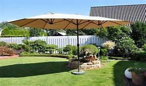 Parasol Grande Taille : parasol de jardin ovale gris ou beige grande surface d 39 ombrage ~ Melissatoandfro.com Idées de Décoration