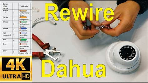 How Wire Broken Dahua Camera Cable Cate