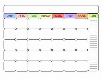Calendar Printable Templates Activity Via