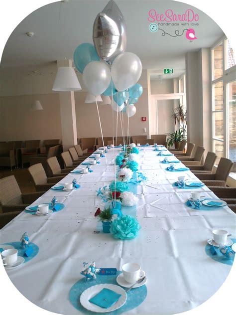 Decoration Table Bapteme Deco Table Bapteme Gris Et Bleu