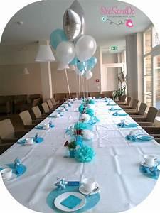 Decoration Pour Bapteme Fille : deco table bapteme gris et bleu ~ Mglfilm.com Idées de Décoration