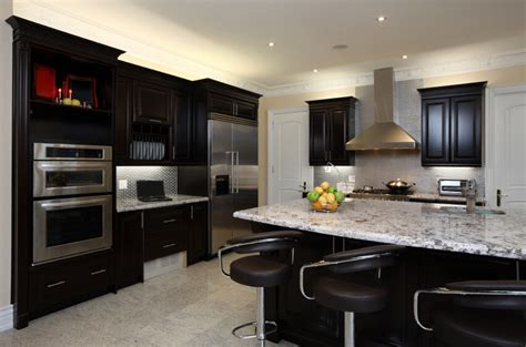 Metal Kitchen Backsplash Ideas - why black kitchen cabinets are popular midcityeast