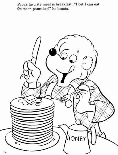 Pancake Coloring Berenstain Bears Pages Bear Colouring