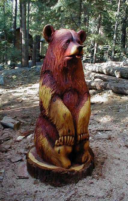 sitting redwood bear webjpg  bear carving