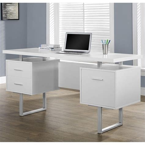 60 quot hollow office desk in white i 7081