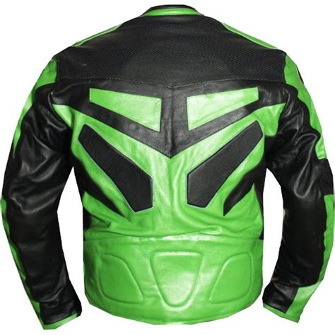 motorcycle jackets for men with armor armor motorcycle riding leather jacket in green leather