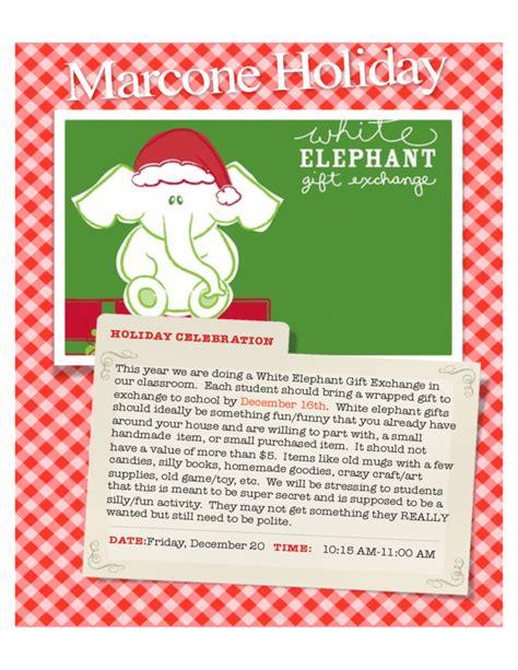 white elephant party flyer