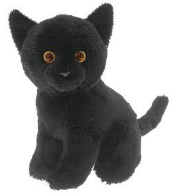 black cat soft  cuddly toy amazoncouk toys games