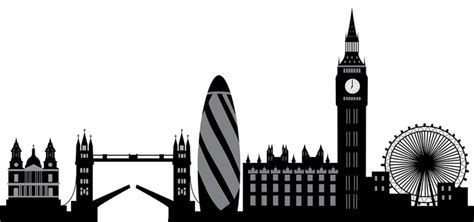 london skyline wall decal pixers    change