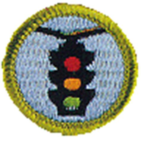 traffic safety merit badge and worksheet