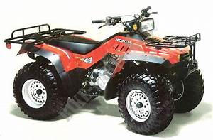 Trx350g Te070 Honda Motorcycle Fourtrax 350 4x4 350 1986