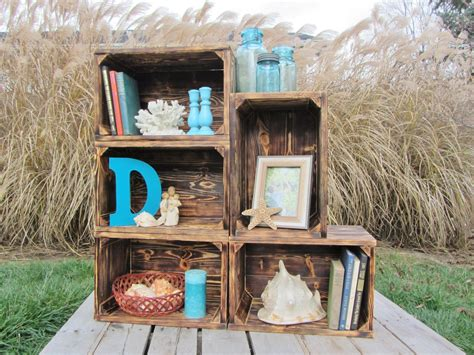Alte Holzkisten Dekorieren by Handmade Small Wood Crate Stackable Made From Reclaimed
