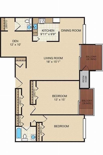 Bedroom Floor Plans Apartments Apartment Den Bedrooms