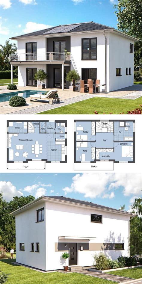 Moderne Häuser Stadtvilla by Stadtvilla Modern Mit Walmdach Architektur Hausbau Ideen