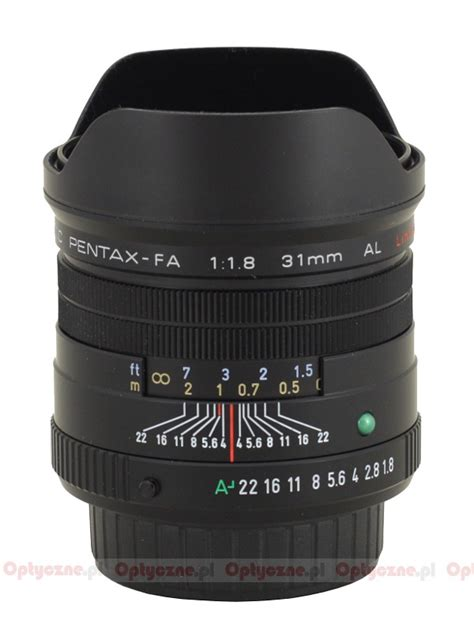 pentax smc fa 31 mm f 1 8 al review introduction lenstip