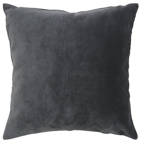 Charcoal Grey Velvet Cushion by Ragged Rose