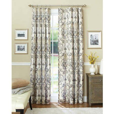 better homes and gardens curtains better homes and gardens ikat scroll curtain panel